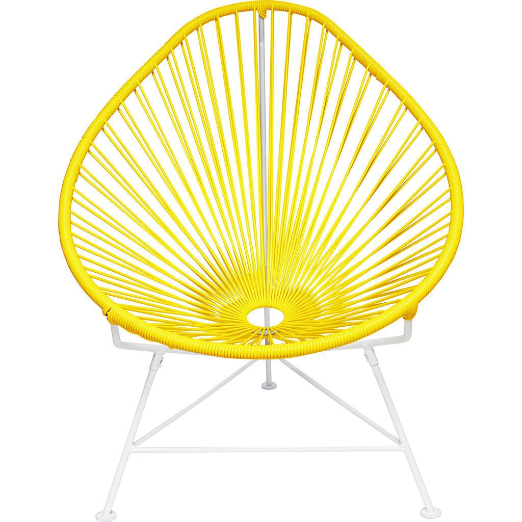 Innit Designs Junior Acapulco Chair | White/Yellow