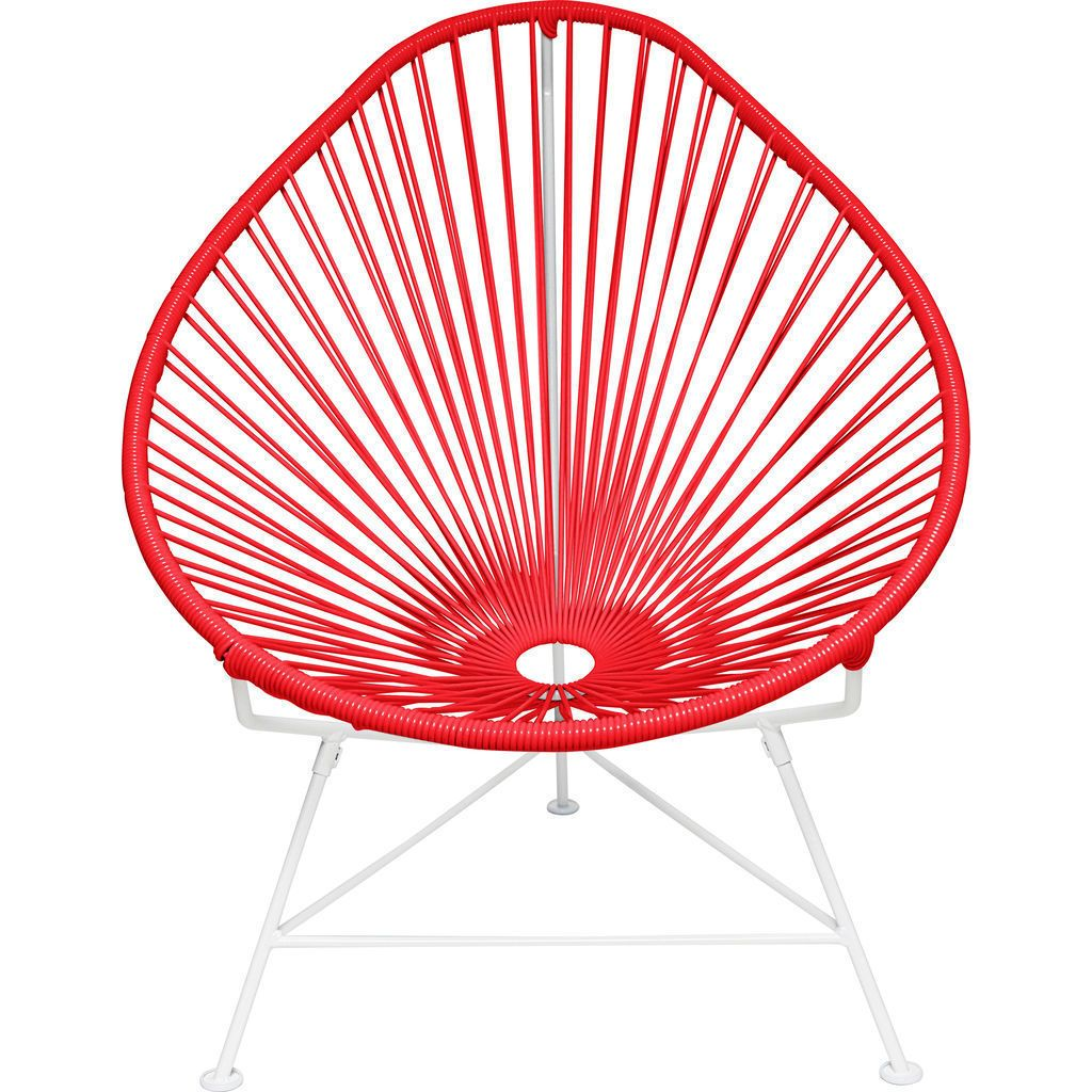 Innit Designs Junior Acapulco Chair | White/Red