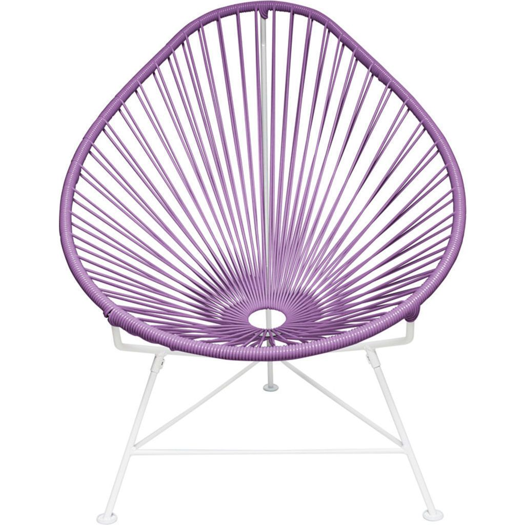 Innit Designs Junior Acapulco Chair | White/Orchid