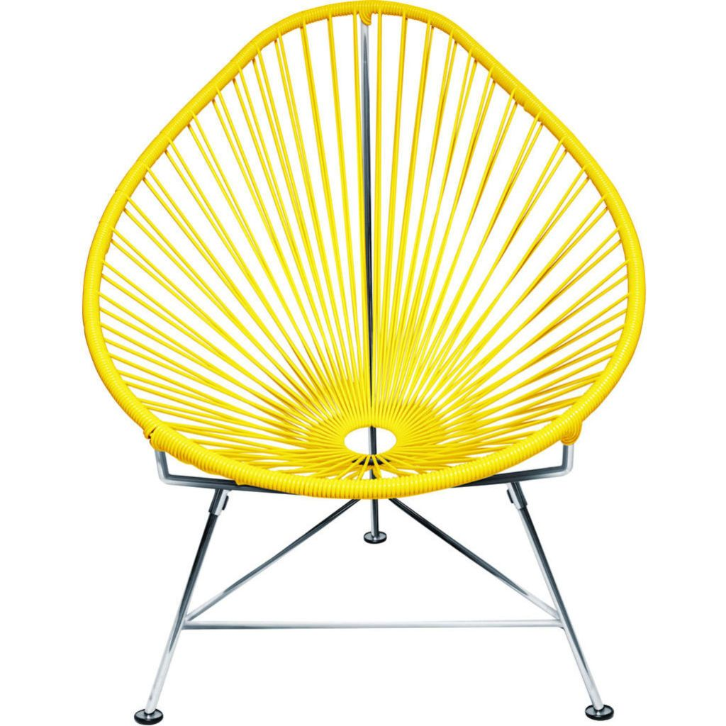 Innit Designs Junior Acapulco Chair | Chrome/Yellow