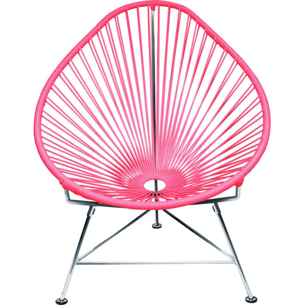 Innit Designs Junior Acapulco Chair | Chrome/Pink