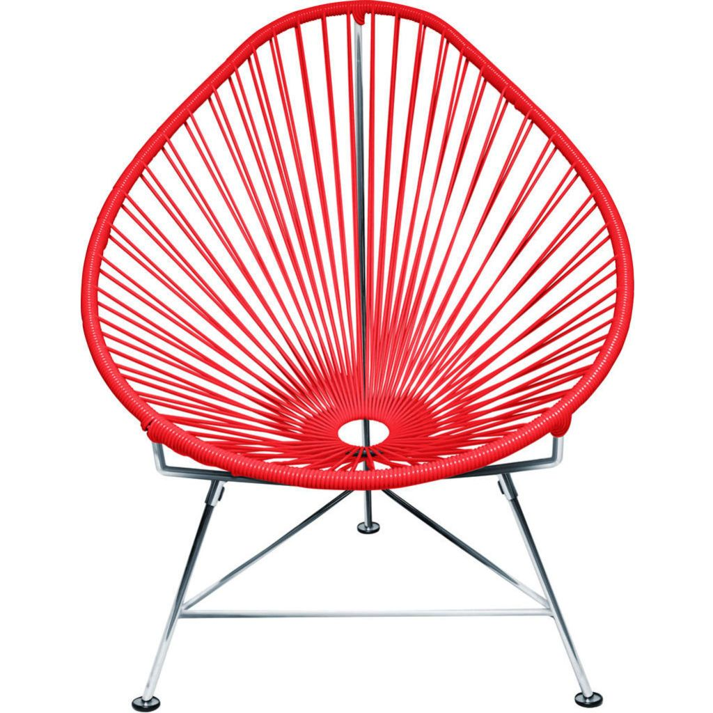 Innit Designs JuniorAcapulco Chair | Chrome/Red