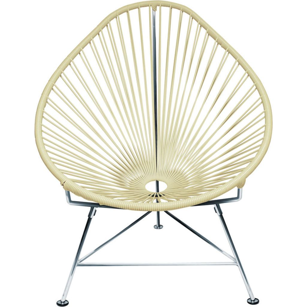 Innit Designs Junior Acapulco Chair | Chrome/Ivory