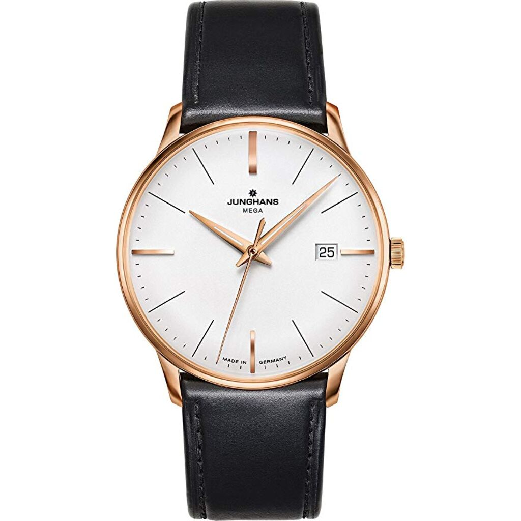 Junghans Meister Mega PVD Radio Controlled Watch | Black Horse Leather Strap 058/7800.00