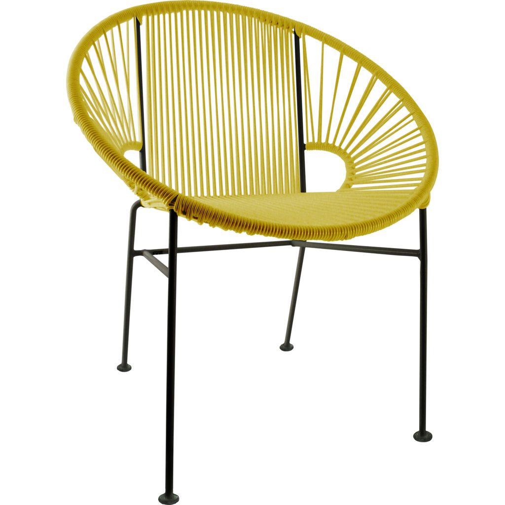 Innit Designs Concha Chair | Black/Yellow