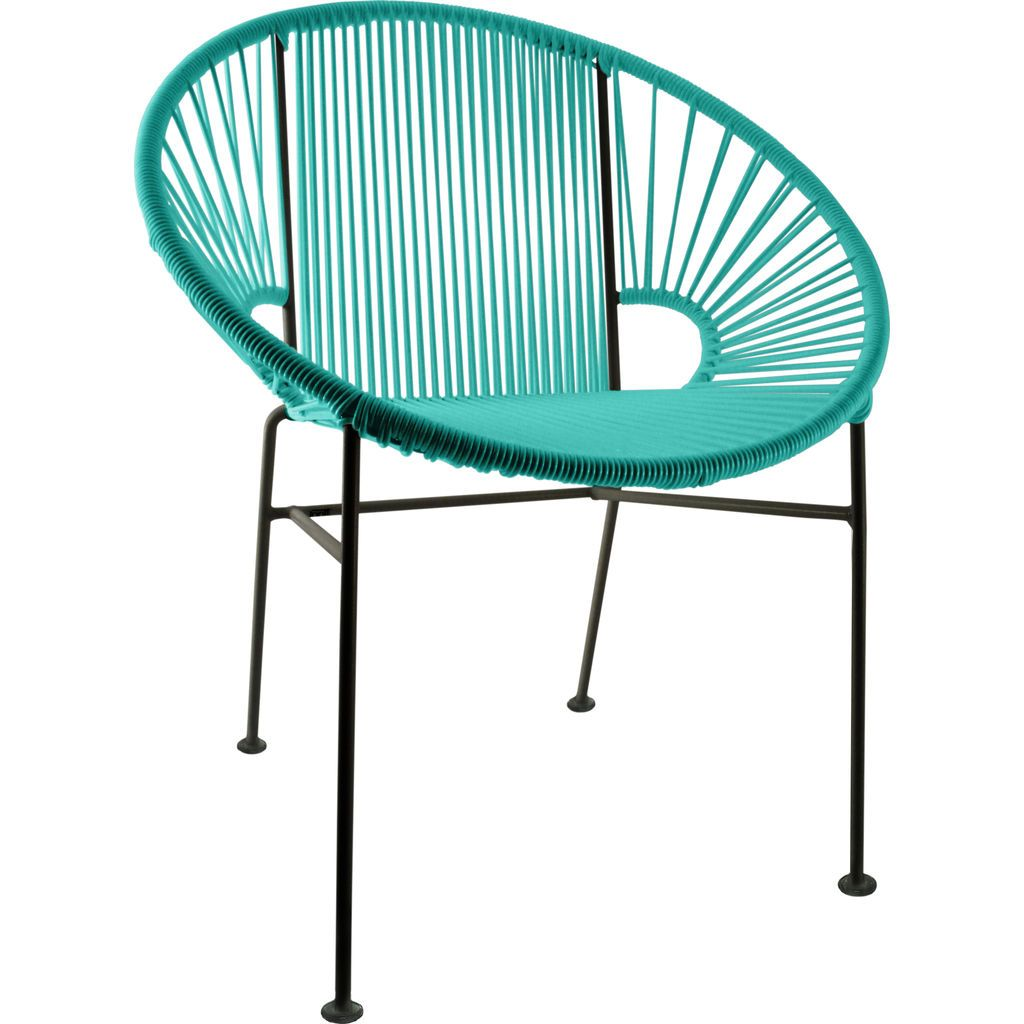 Innit Designs Concha Chair | Black/Turquoise