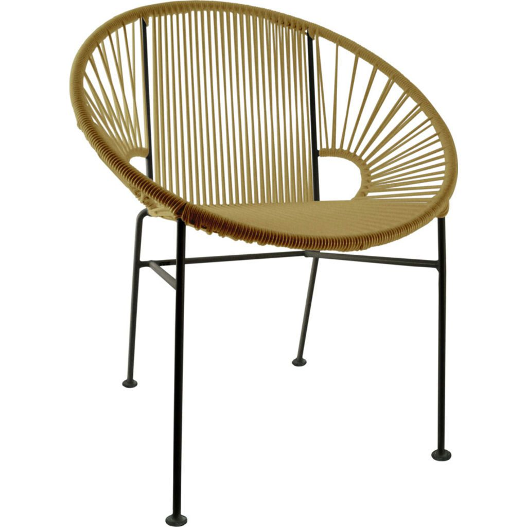 Innit Designs Concha Chair | Black/Gold