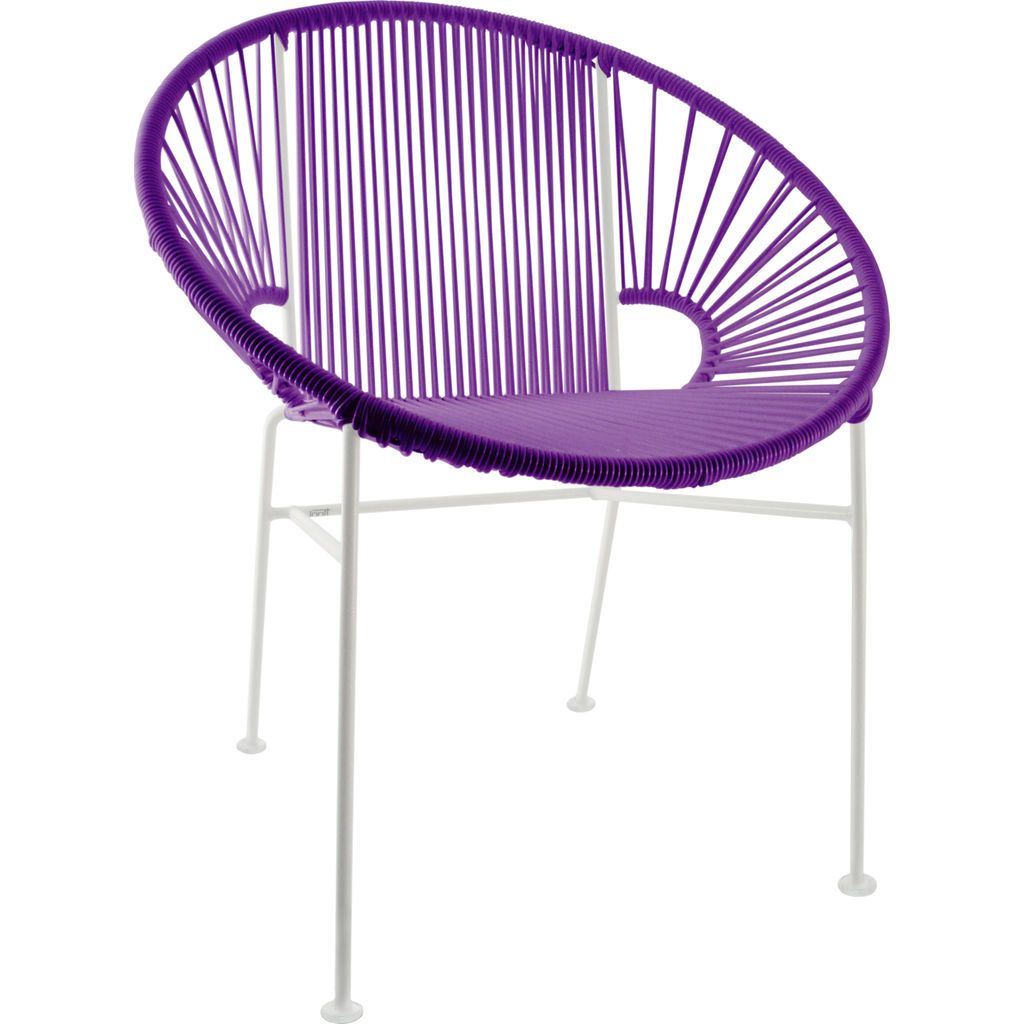 Innit Designs Concha Chair | White/Purple