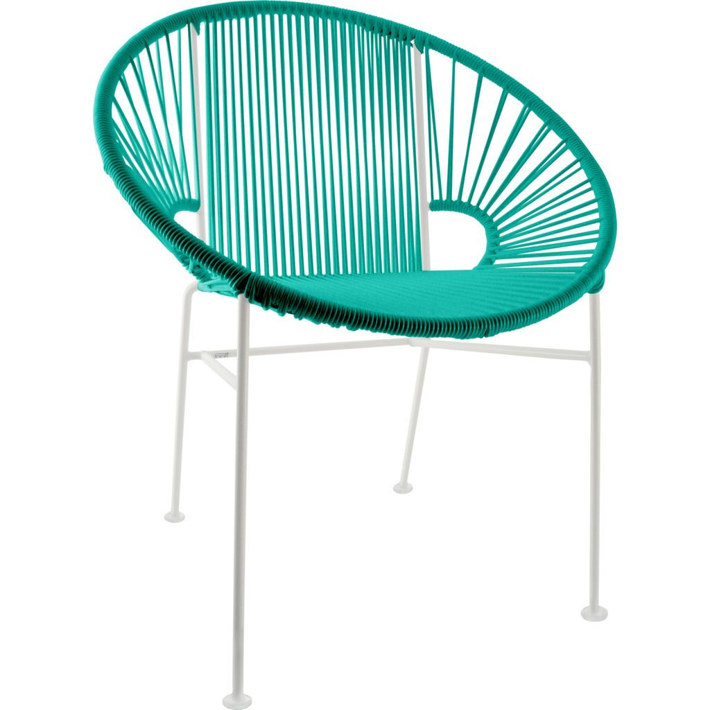 Innit Designs Concha Chair | White/Turquoise