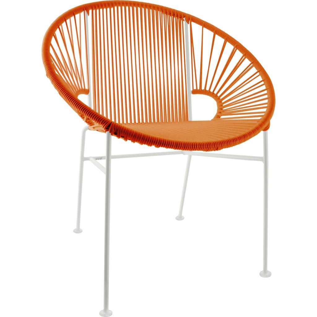 Innit Designs Concha Chair | White/Orange