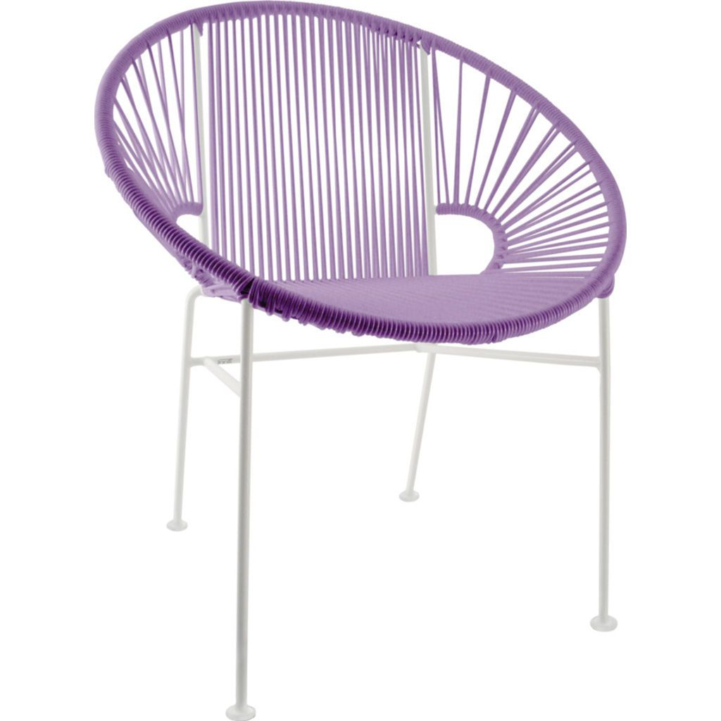 Innit Designs Concha Chair | White/Orchid