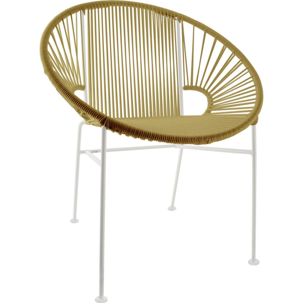 Innit Designs Concha Chair | White/Gold