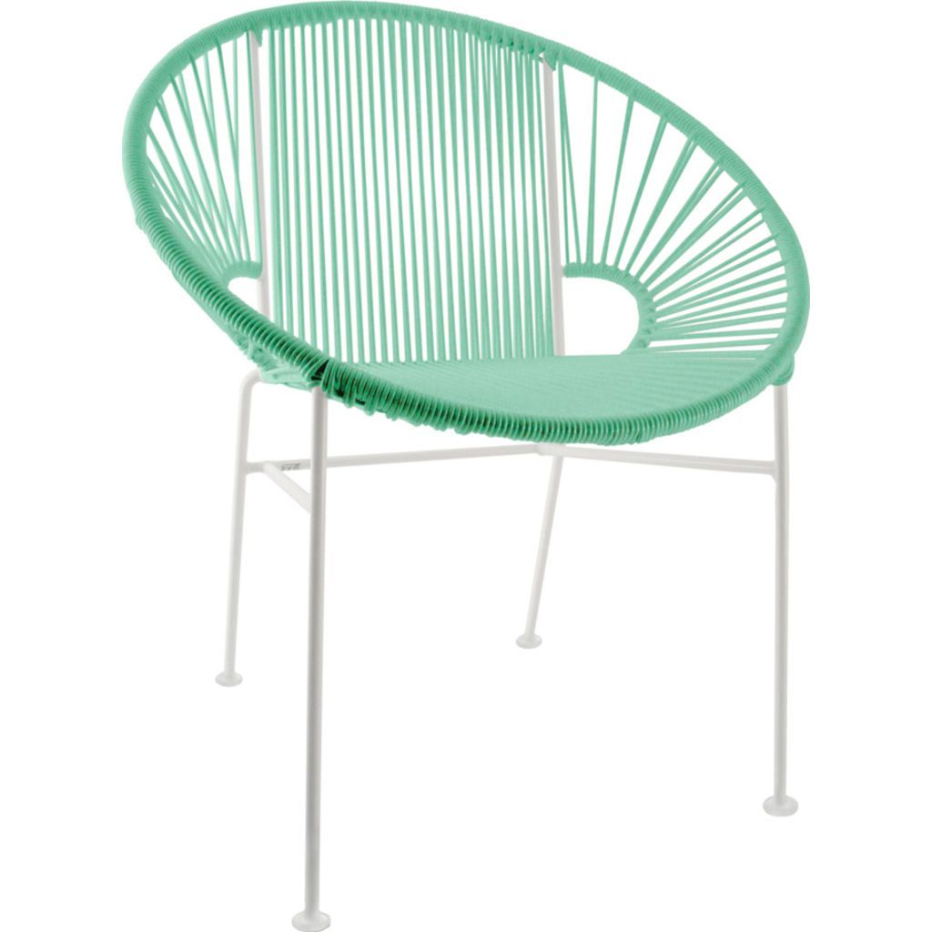 Innit Designs Concha Chair | White/Mint