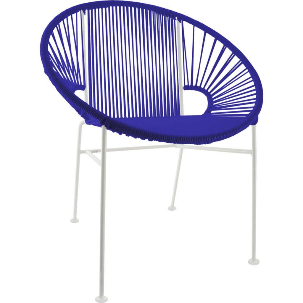 Innit Designs Concha Chair | White/Deep Blue