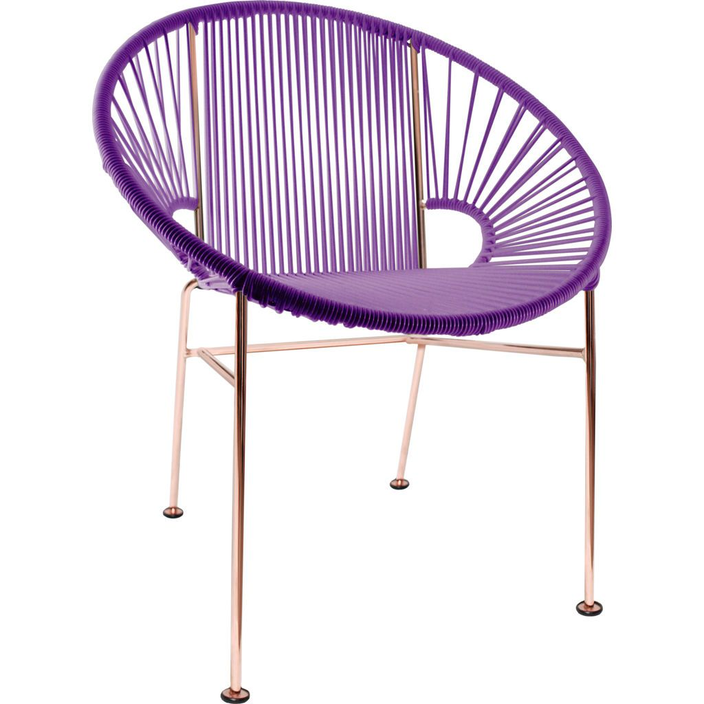 Innit Designs Concha Chair | Copper/Purple