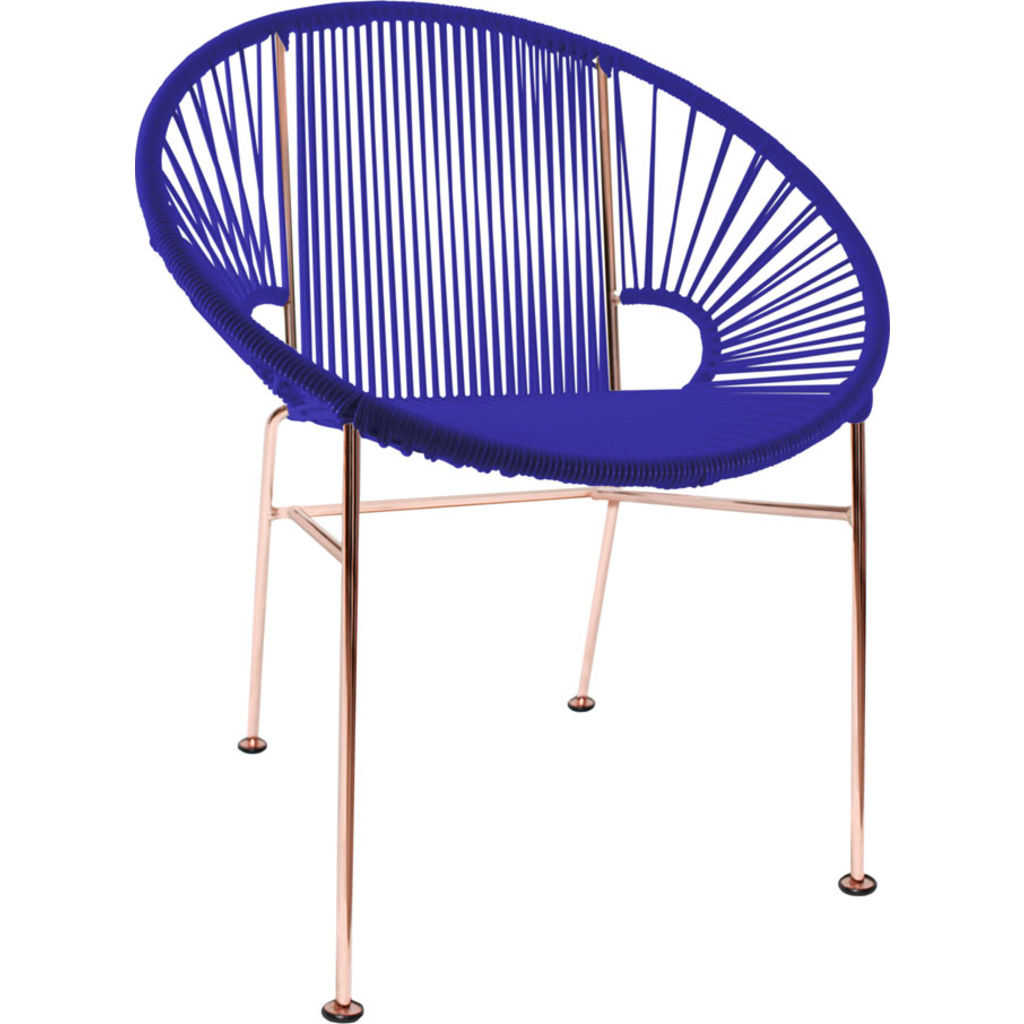 Innit Designs Concha Chair | Copper/Deep Blue