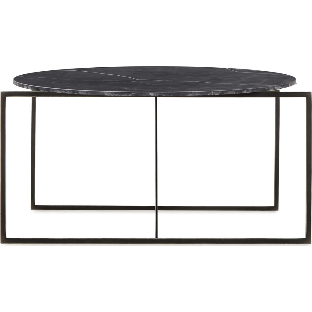 Resource Decor Georgina Coffee Table | Black Marble