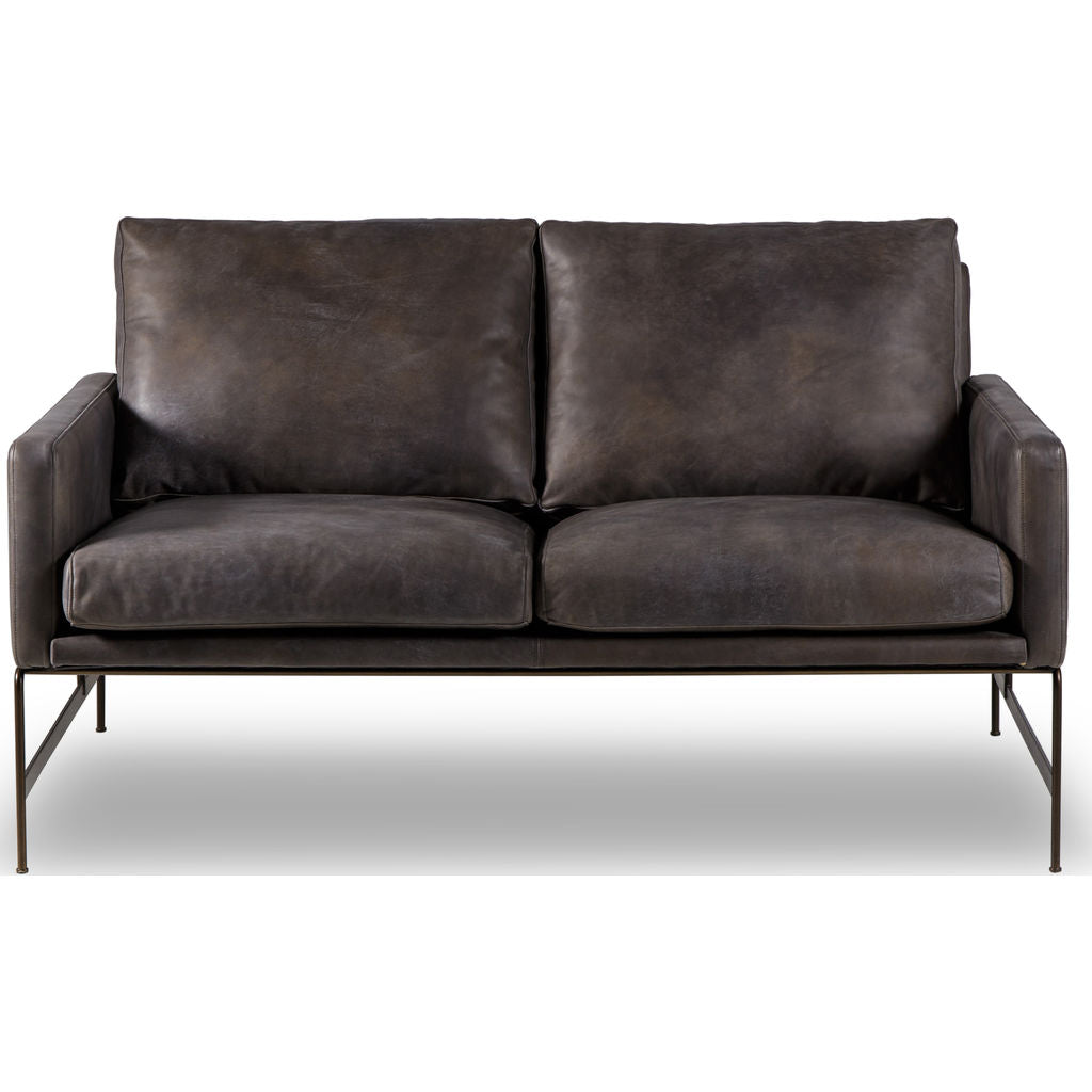 Resource Decor Vanessa 2 Seater Sofa | Destroyed Black Leather