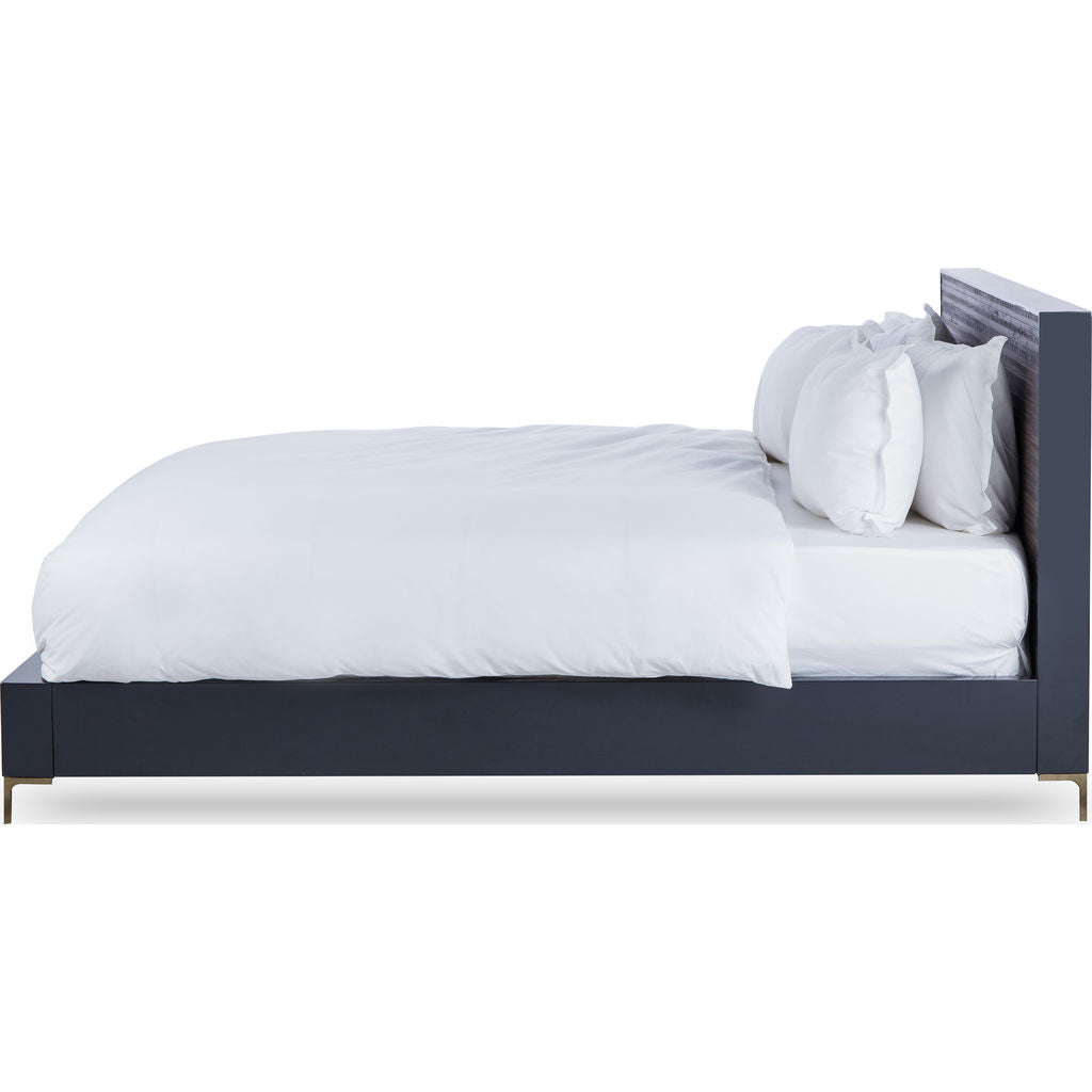 Resource Decor Zuma King Sized Bed | Charcoal Gray