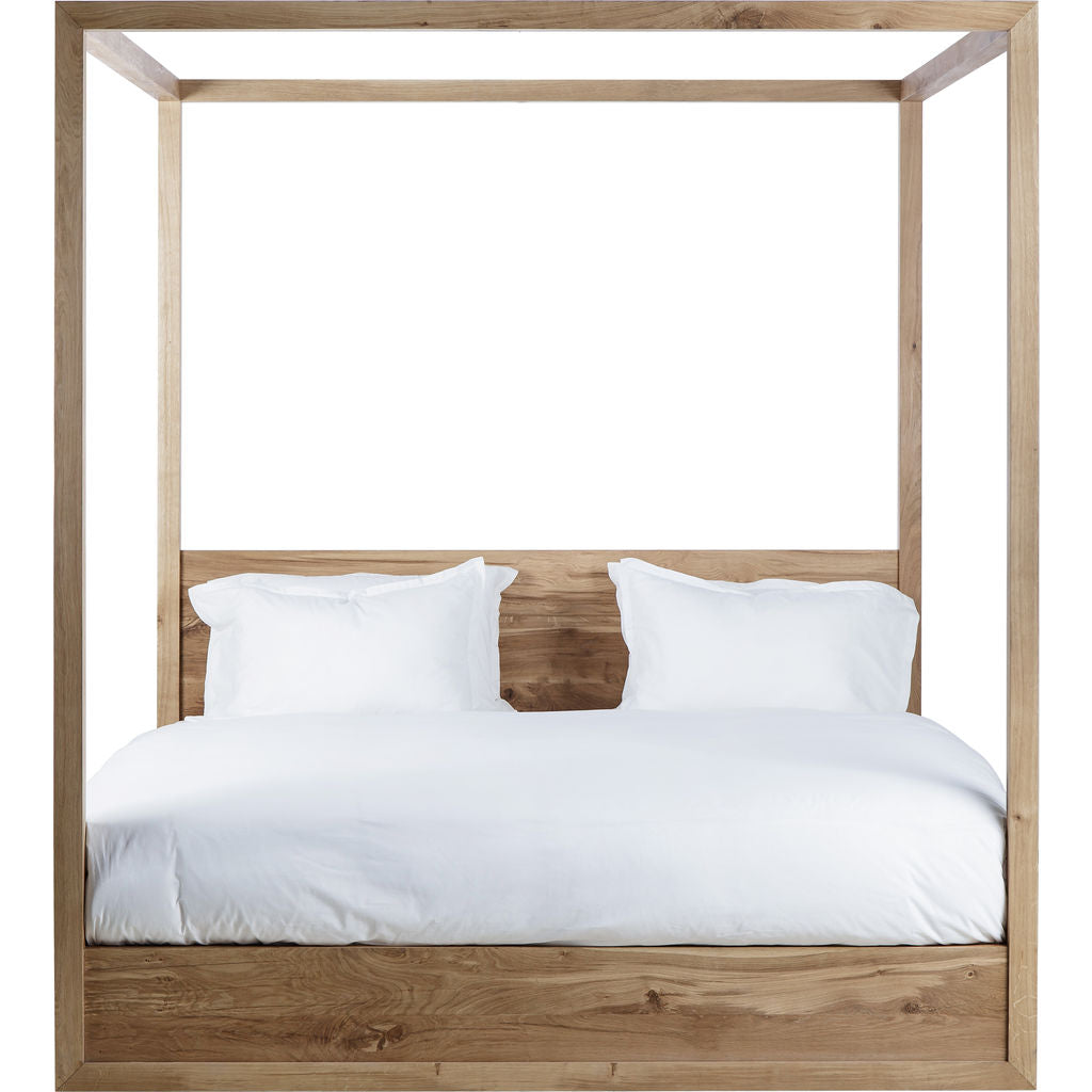 Resource Decor Otis Poster Queen Sized Bed | French Oak