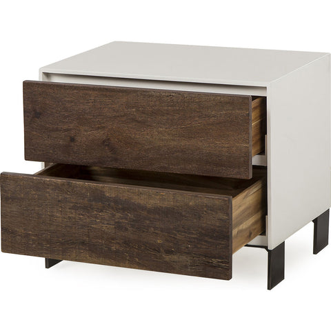Resource Decor Cardosa Nightstand | White