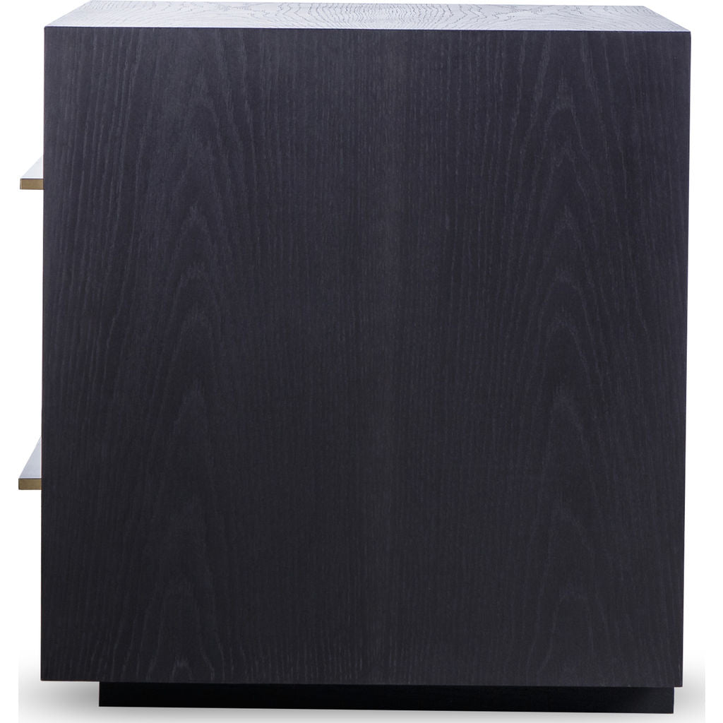 Resource Decor Waters Nightstand | Smoked Black Oak