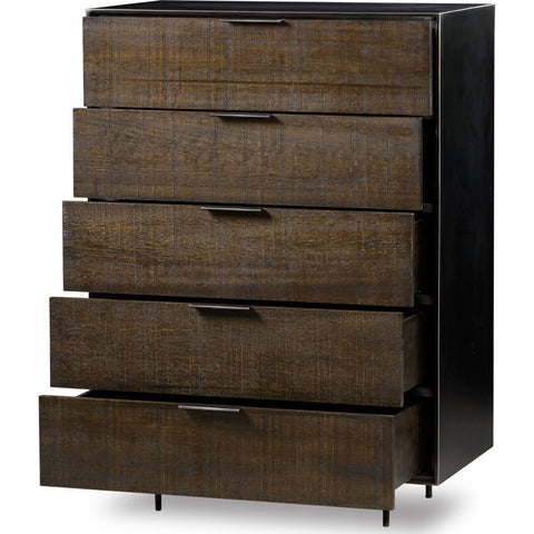 Resource Decor Tribeca 5 Drawer Chest | Walnut