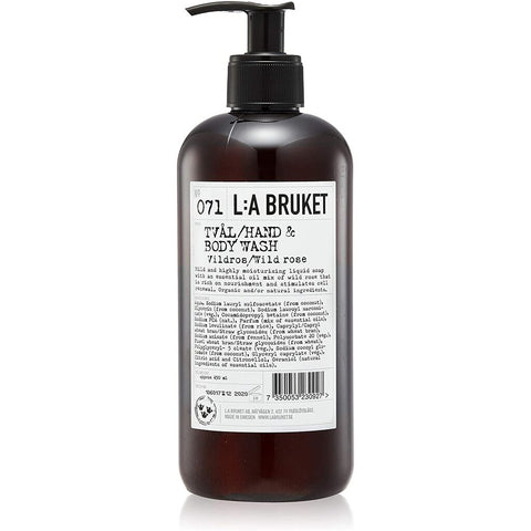 L:A Bruket No 071 Hand & Body Wash | Wild Rose- 10546
