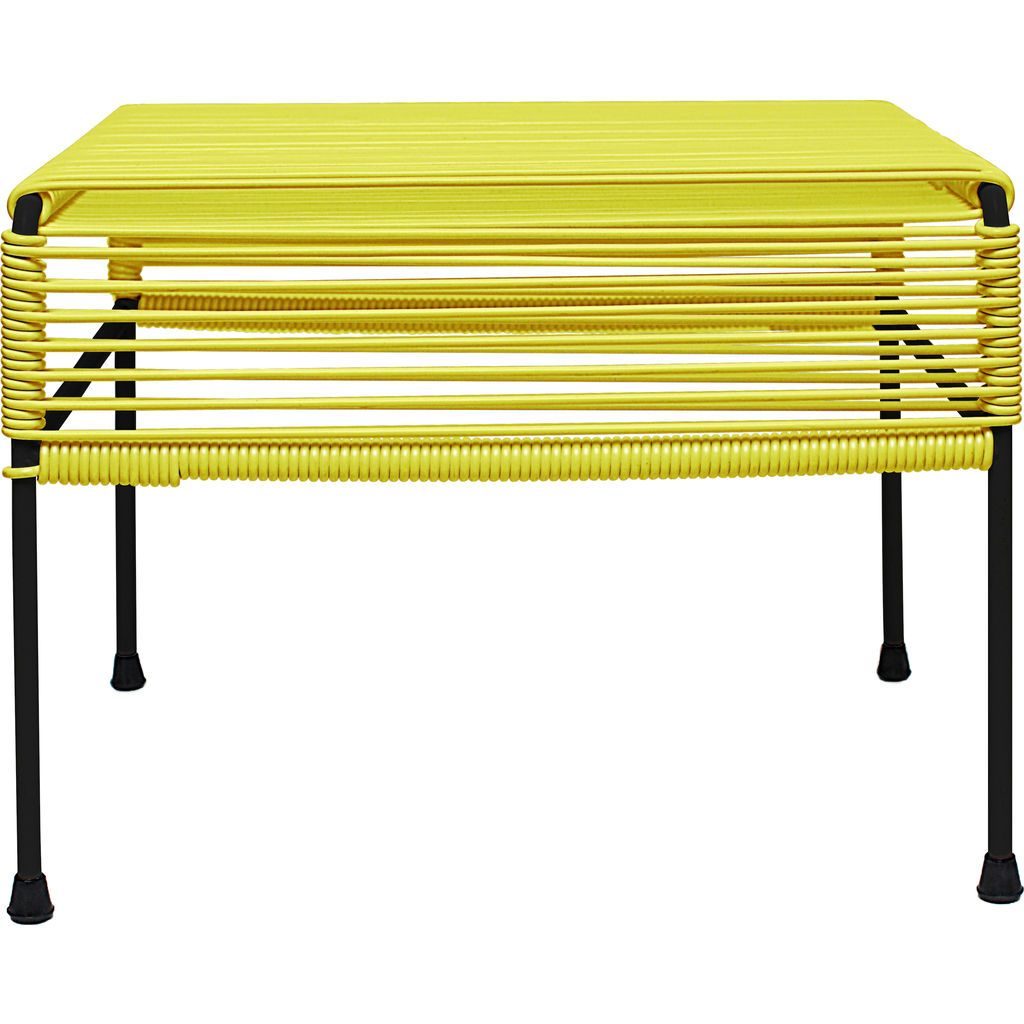 Innit Designs Atom Ottoman | Yellow/Black