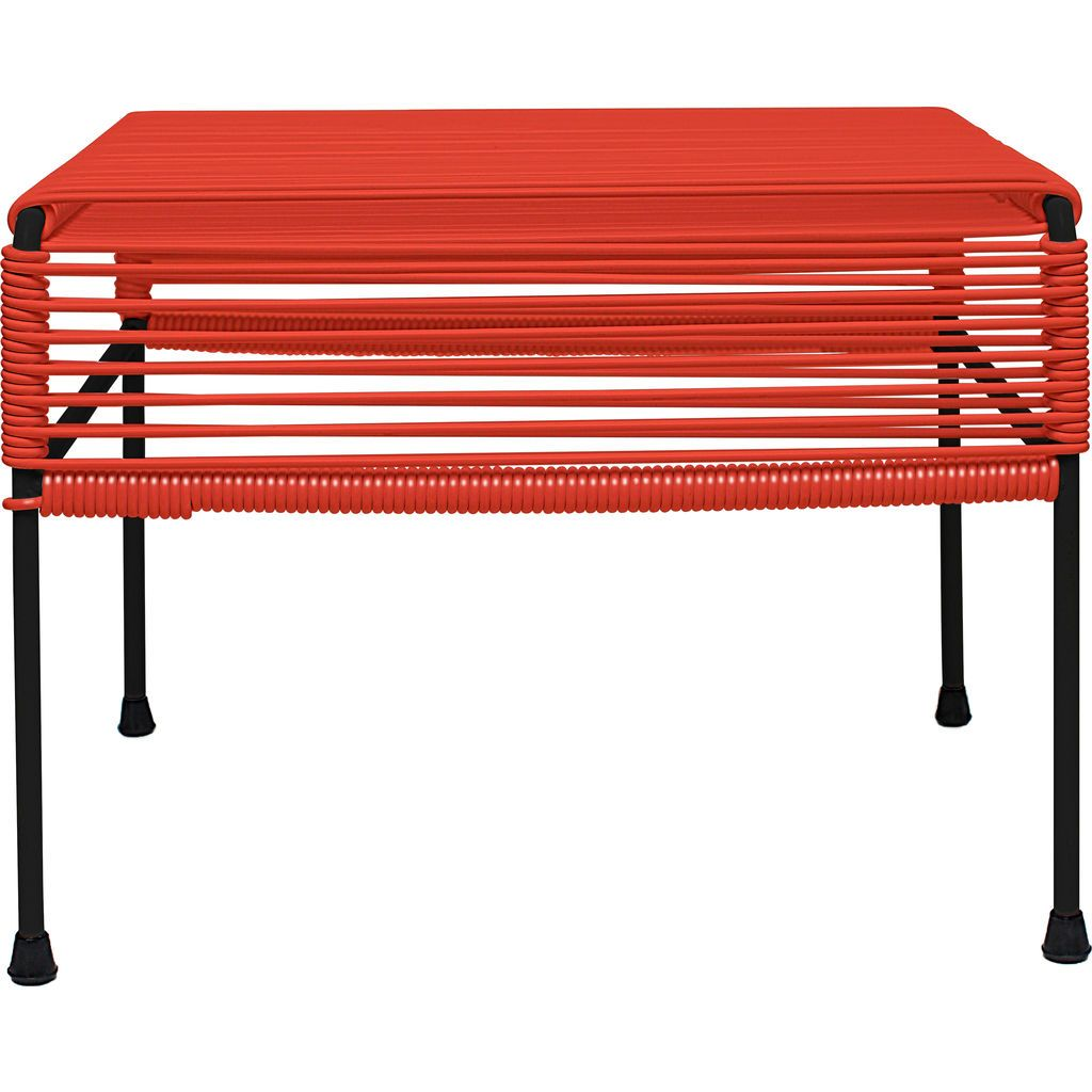 Innit Designs Atom Ottoman | Red/Black
