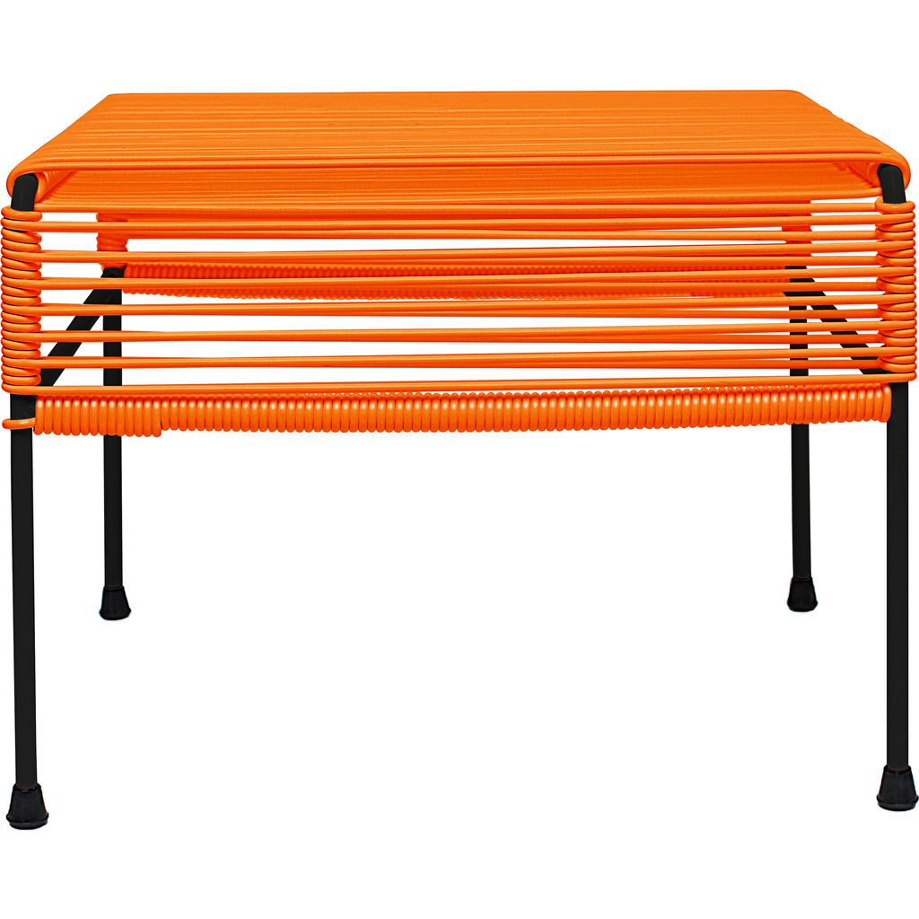 Innit Designs Atom Ottoman | Orange/Black