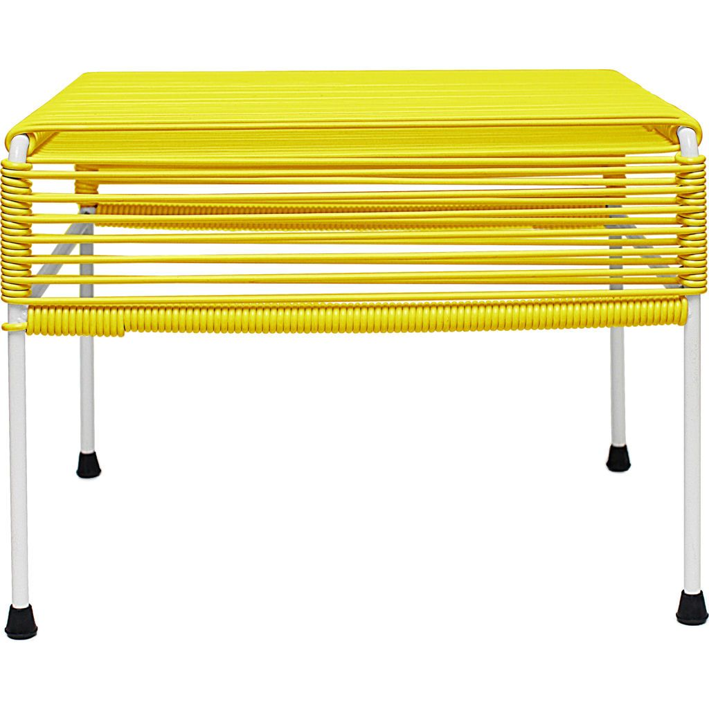 Innit Designs Atom Ottoman | Yellow/White