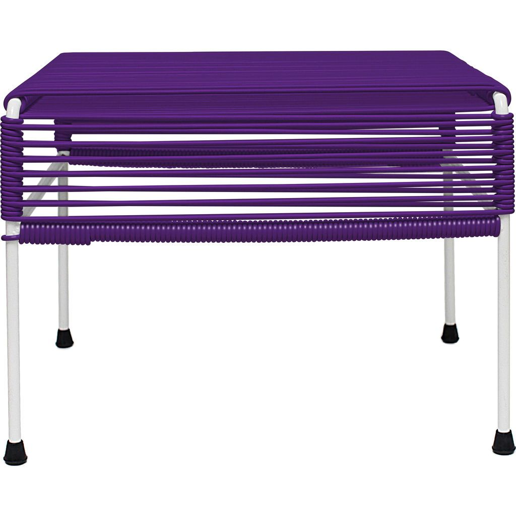 Innit Designs Atom Ottoman | Purple/White