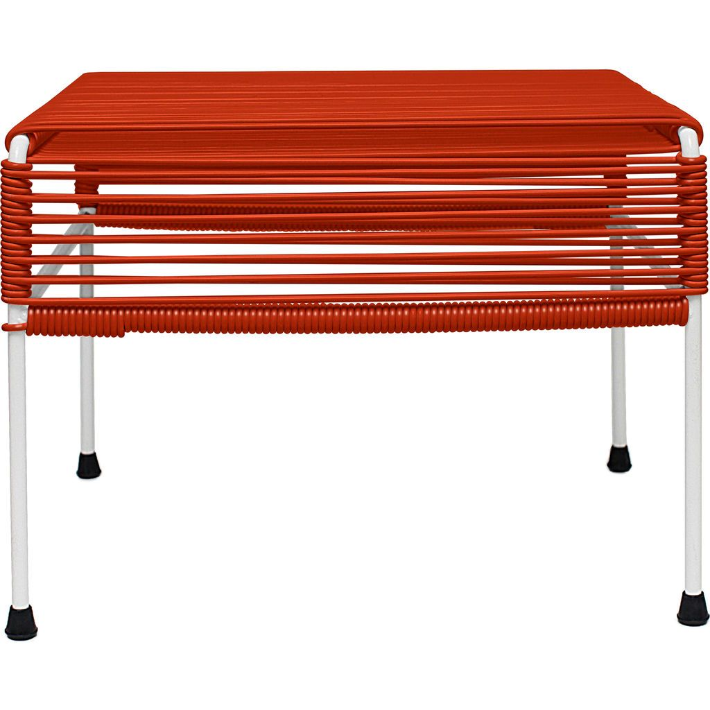 Innit Designs Atom Ottoman | Red/White