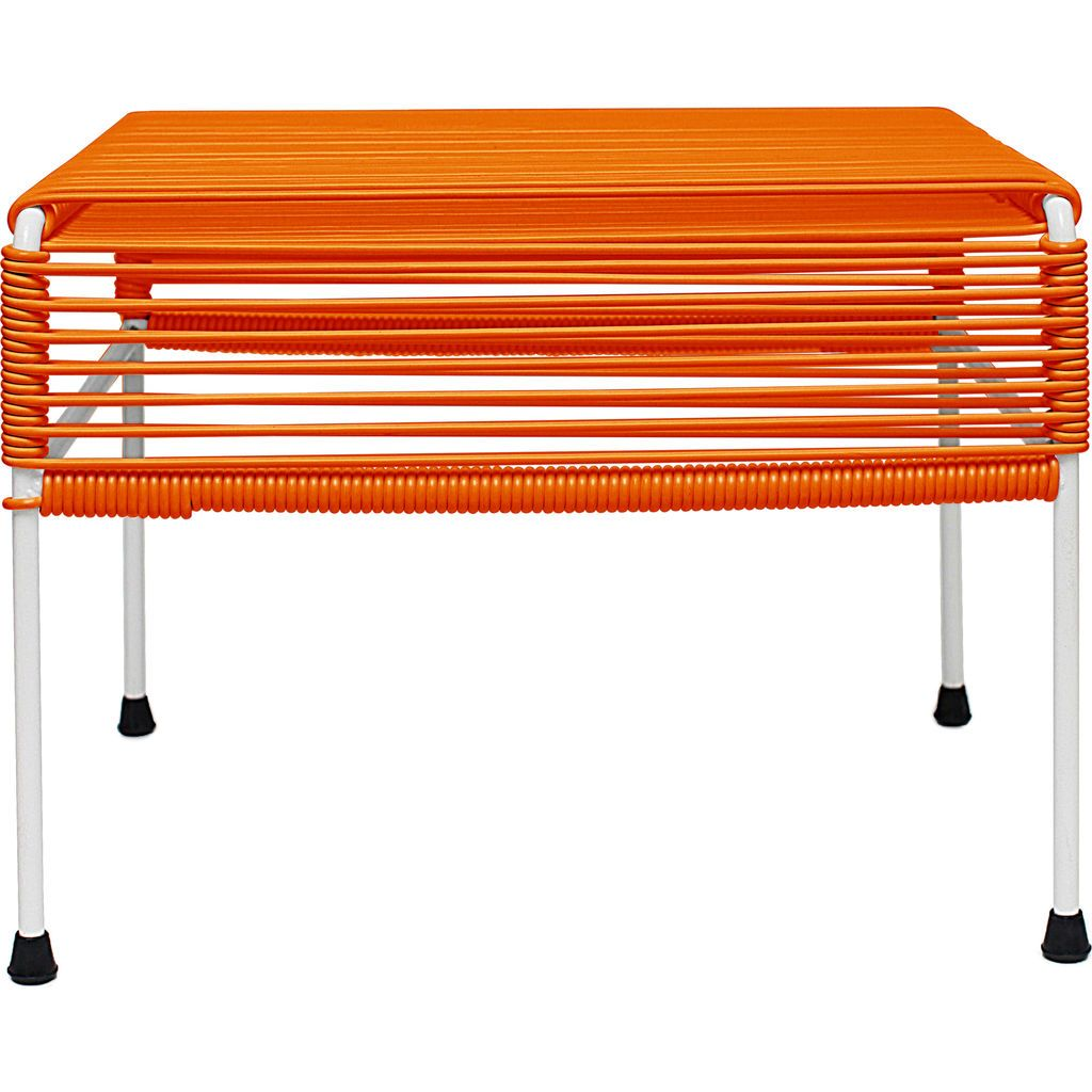 Innit Designs Atom Ottoman | Orange/White