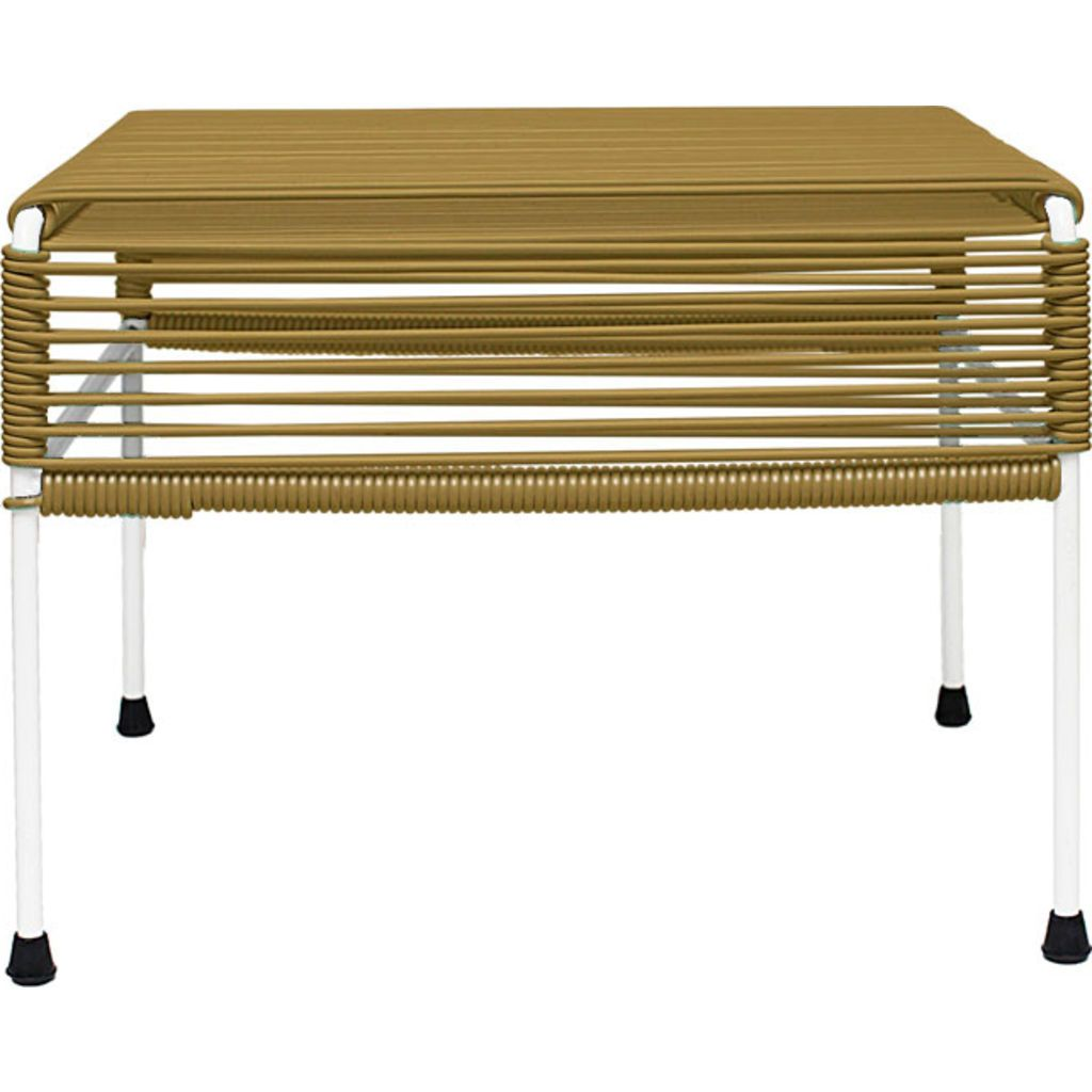 Innit Designs Atom Ottoman | Gold/White