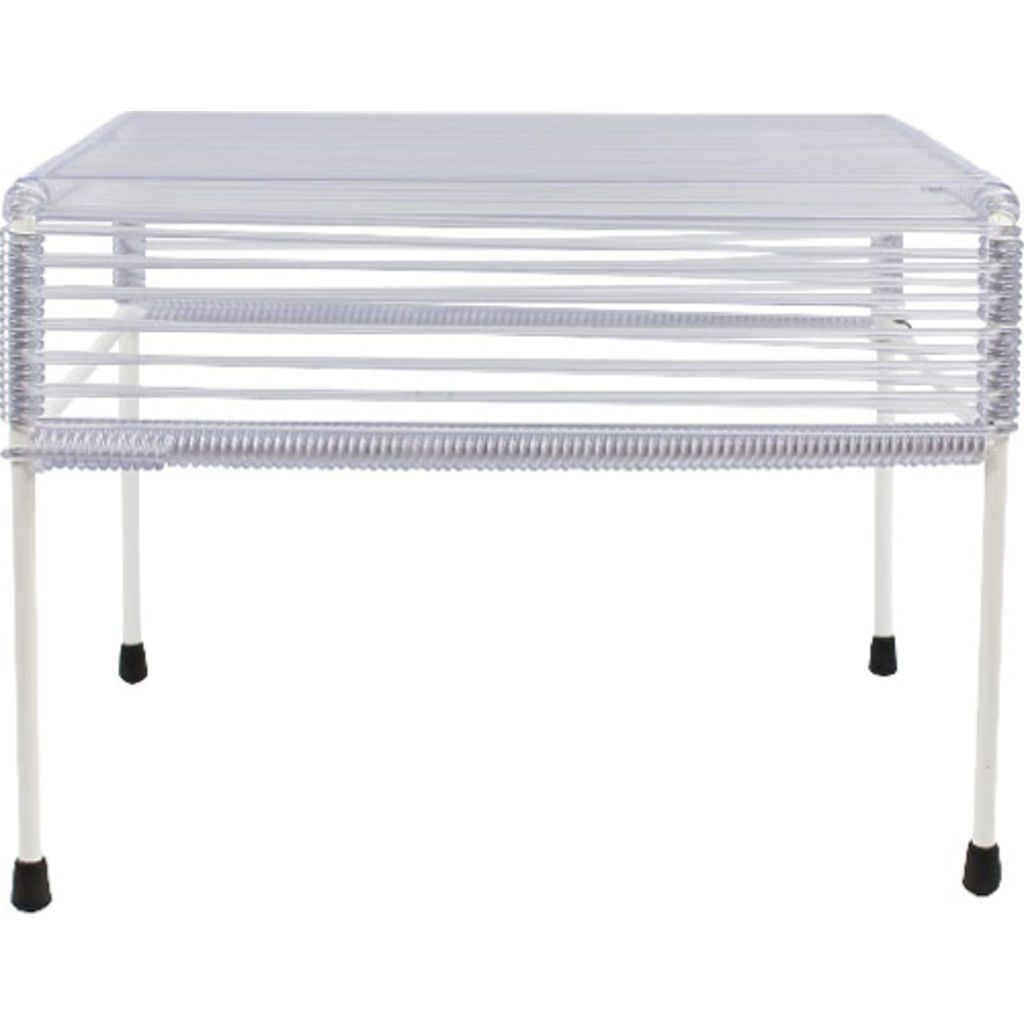 Innit Designs Atom Ottoman | Clear/White