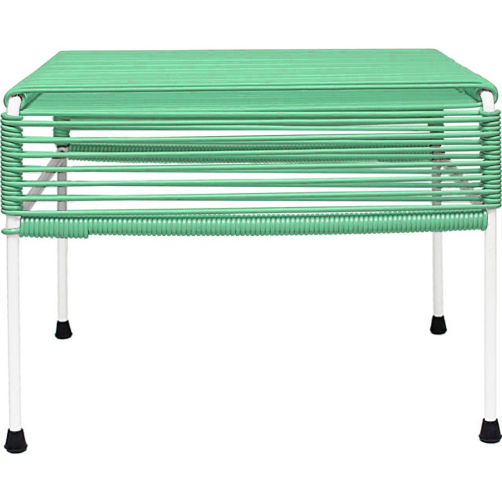 Innit Designs Atom Ottoman | Mint/White