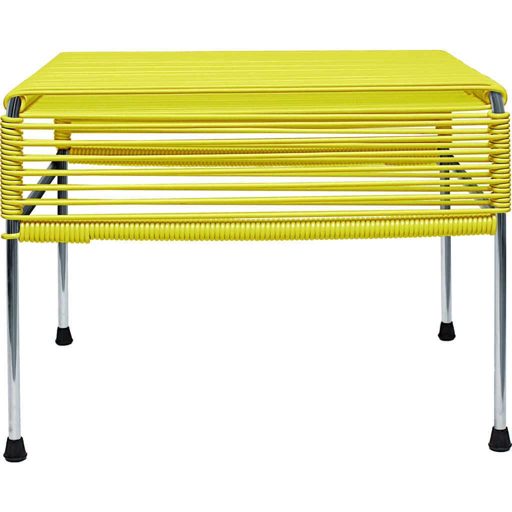 Innit Designs Atom Ottoman | Yellow/Chrome