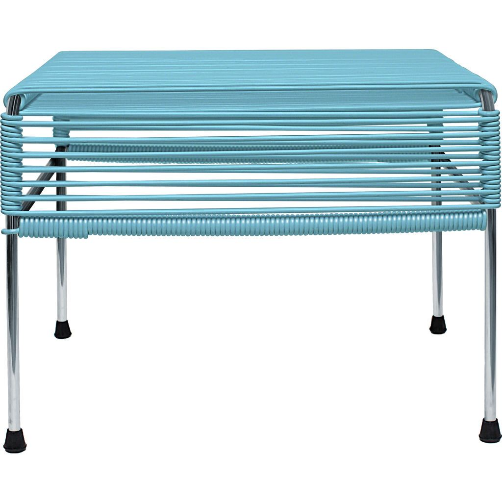 Innit Designs Atom Ottoman | Blue/Chrome