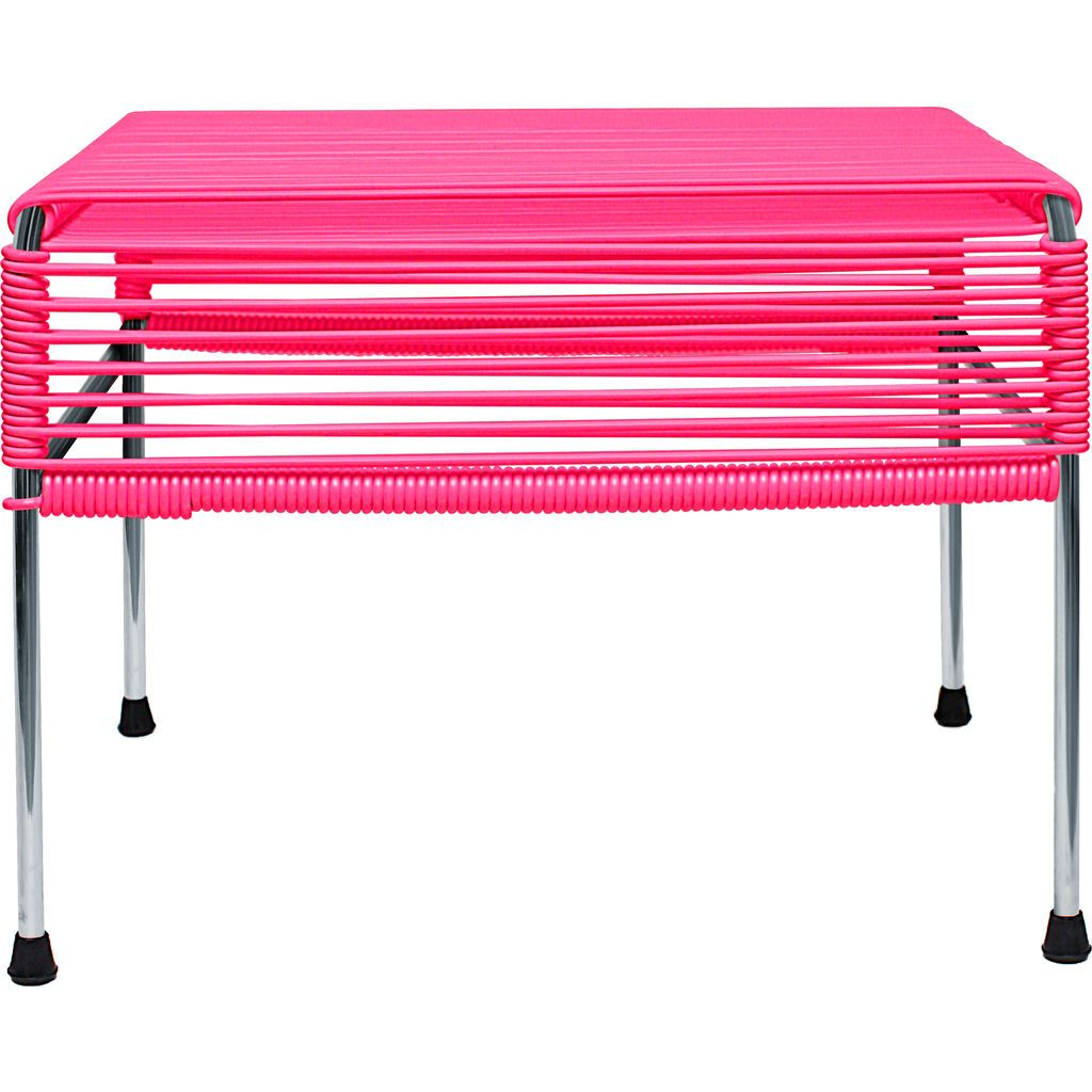 Innit Designs Atom Ottoman | Pink/Chrome