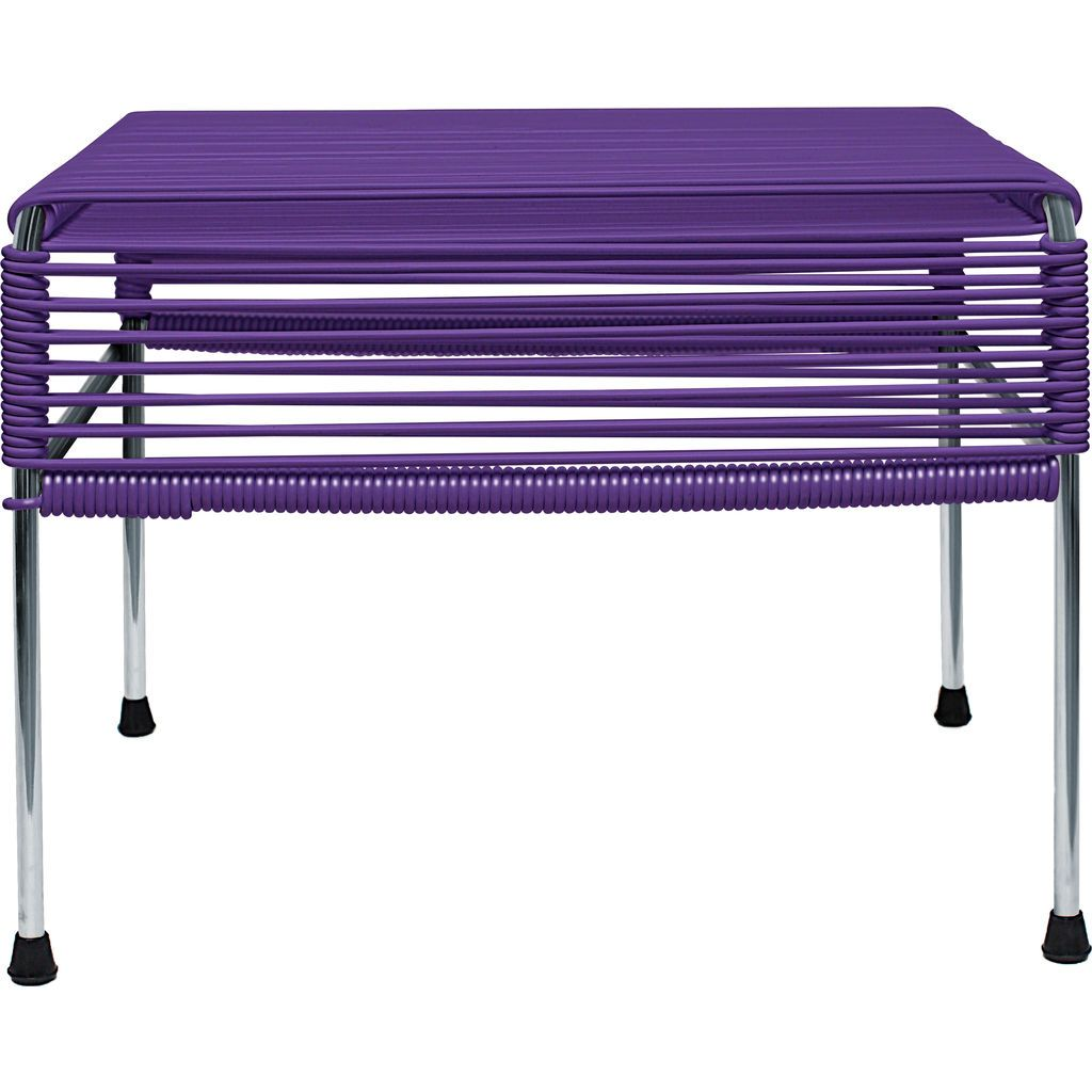 Innit Designs Atom Ottoman | Purple/Chrome