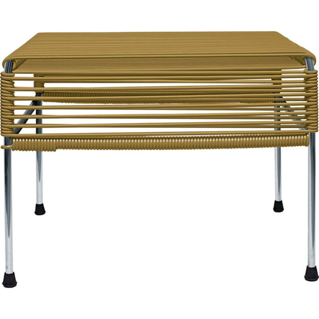 Innit Designs Atom Ottoman | Gold/Chrome