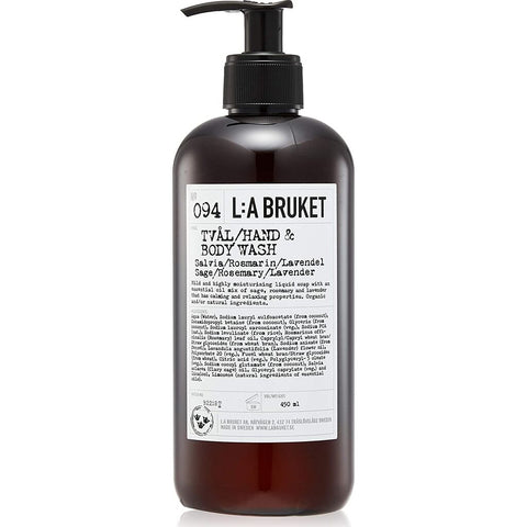 L:A Bruket No 094 Hand & Body Wash | Sage/Rosemary/Lavender