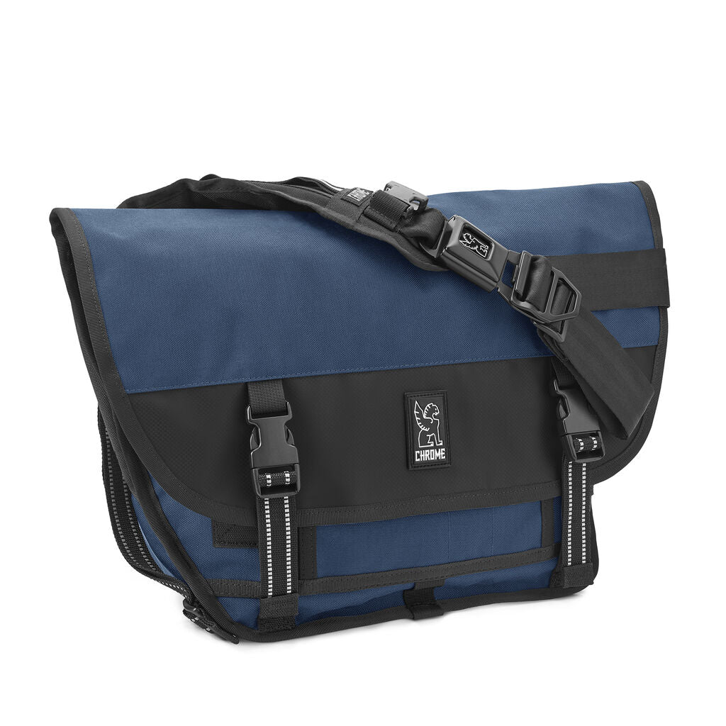 Chrome Mini Metro Messenger Bag | Navy Blue
