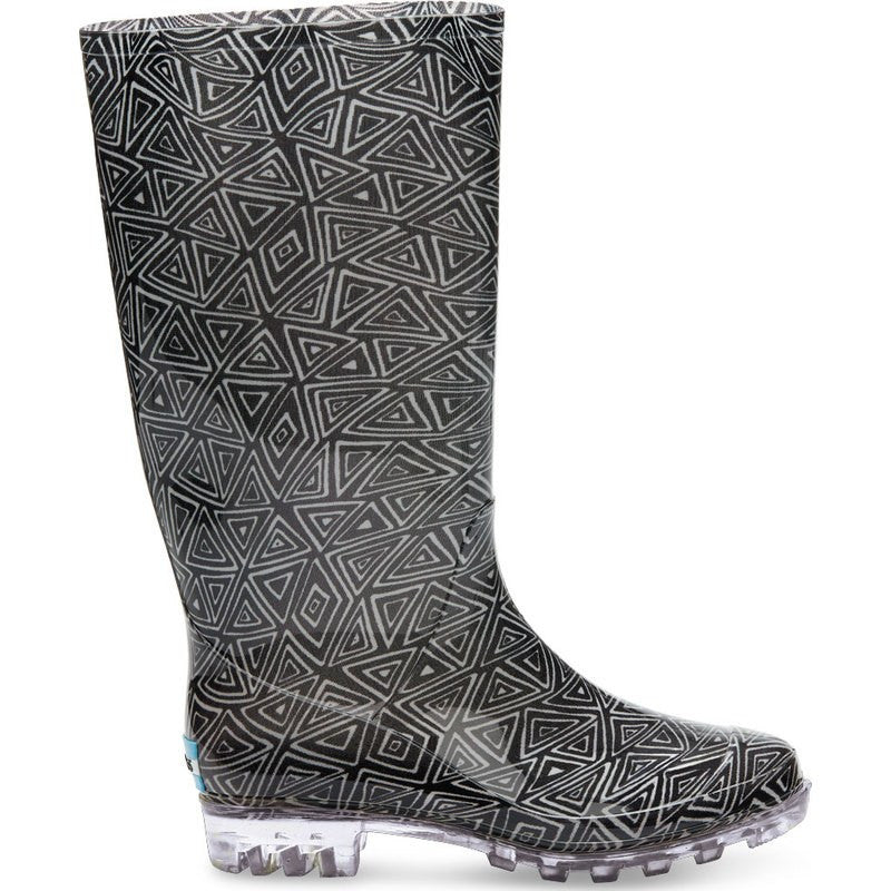 Toms Women's Tribal Print Cabrillo Rain Boot | Black White