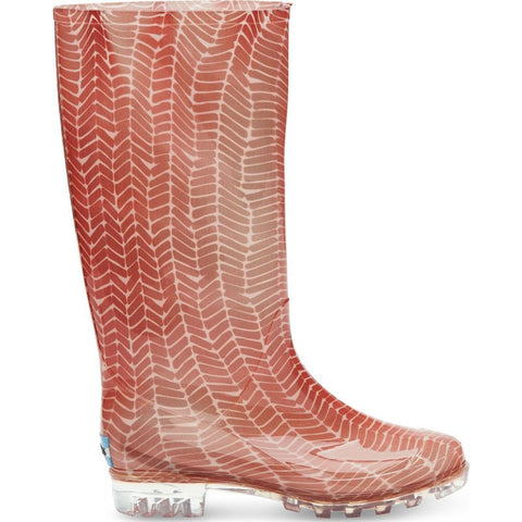 Toms Women's Herringbone Print Cabrillo Rain Boot | Picante Red