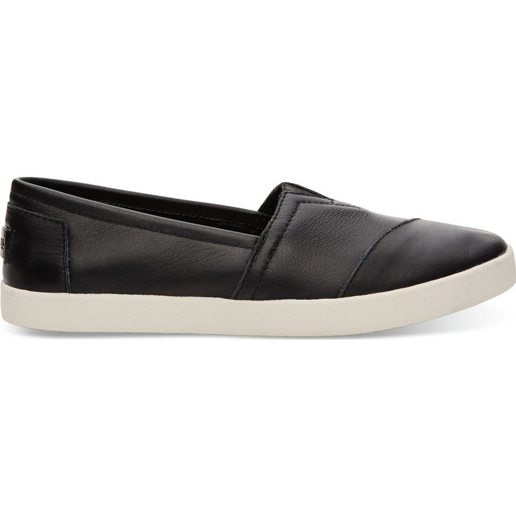 dd77ba84ac5 TOMS Women s Avalon Slip Ons Black Leather - Sportique