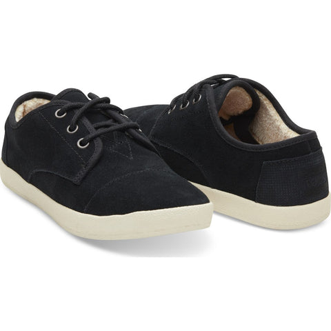 TOMS Women's Paseo Sneakers | Black Suede Shearling 10008855