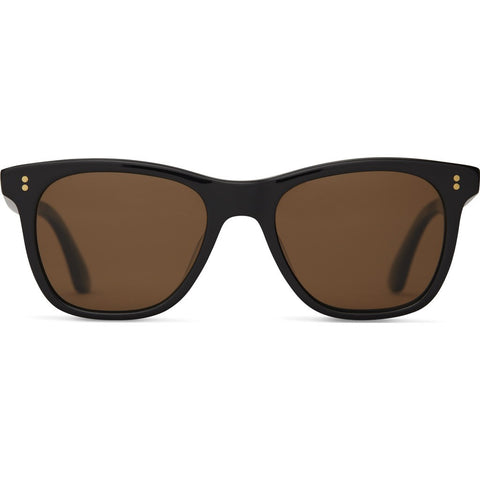 Toms Fitzpatrick Black Sunglasses | Matte Black Brown Polarized 10009603